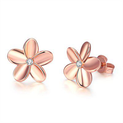 Fashionable K Gold Euramerican Popular and Contracted Flower Ear Nail