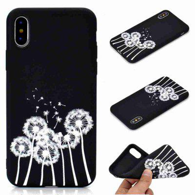 A TPU Black Bottom Painted Phone Case for iPhone XS
