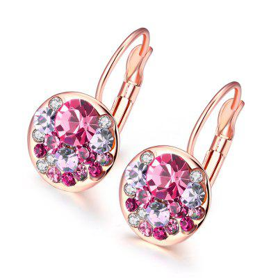 Fashion K Gold European and American Fashion Dazzle Eye Round Earrings
