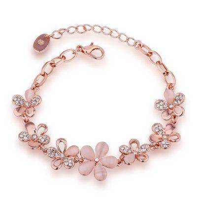 Proteção ambiental Rose Gold Flower Checo Diamond Lady Bracelet