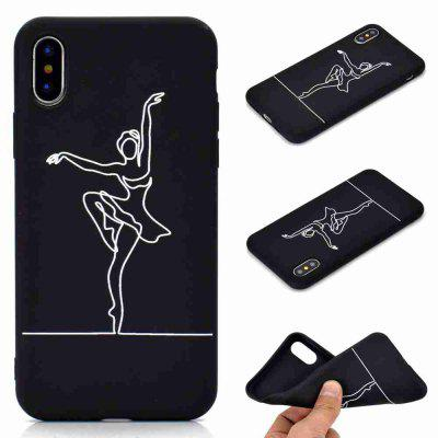 A TPU Black Bottom Painted Phone Case for iPhone X