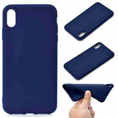 Thick Bottom Matte TPU Solid Color Phone Case for iPhone XS