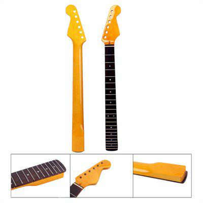 Gloss Yellow Electric Guitar Neck 22 Frets Rosewood