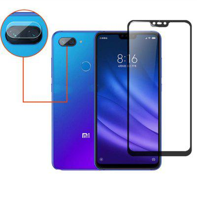 2 in 1 Protective Glass Lens Camera Screen Protector for Xiaomi Mi 8 Lite
