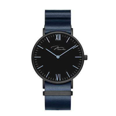 JONAS VERUS Y01646-Q3.BBBLL with Black Case and Blue NATO Strap Watch