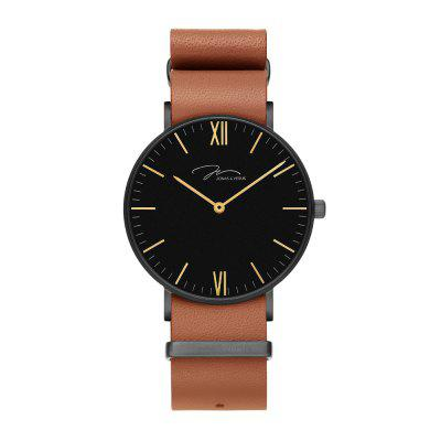 Jonas Verus R40.10.BBLZ s Black Case a Brown Strap Watch NATO