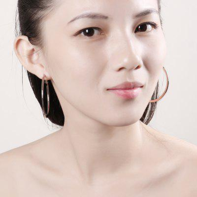 Environmental Protection Golden Round Earrings E949-B