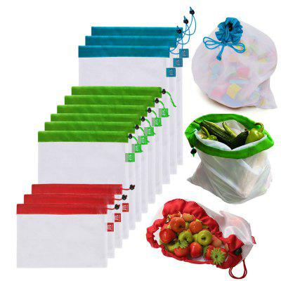 Reusable Mesh Produce Bags Premium-12PCS