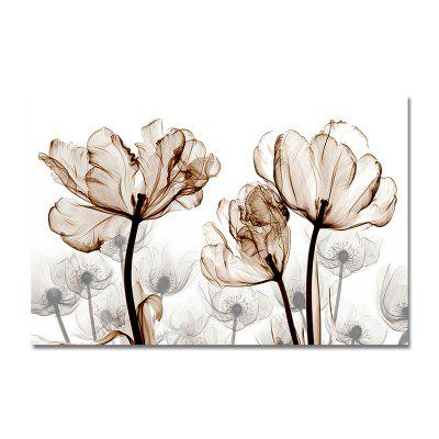 Silhouette of Elegant Flowers Print Art