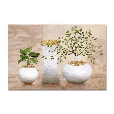 Plants in Retro Vases Print Art
