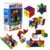 Colorful Folding Cube Magic Star Infinite Cube Puzzle Toy - MULTI
