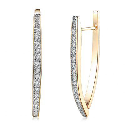 K Gold Zircon Earring Single Row Diamond Set Romantic Wind Earring Earring Clip