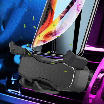 Universal Car Phone Holder Air Vent Gravity Linkage Shock Stand Mount