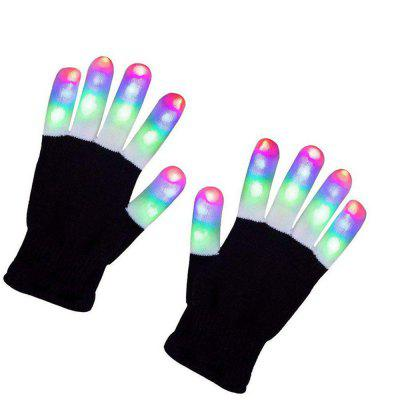 Guanti lampeggianti a LED con elettro dito illuminano Halloween Xmas Dance Rave Party Fun