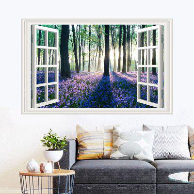 Lavender Jungle PVC Window Film Wall Sticker