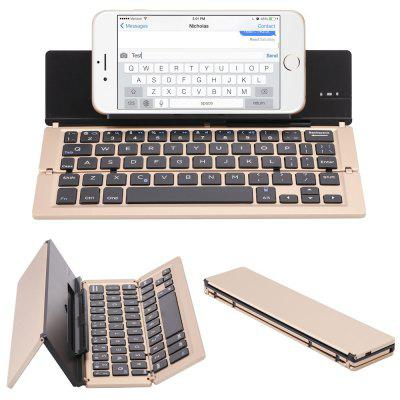 Portable Aluminum Folding Bluetooth Keyboard Foldable Compatible with iPhone