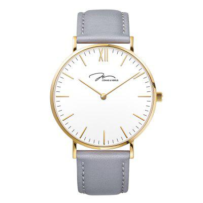JONAS VERUS Y01647-Q3.GGWLH with Golden Case and Gray Calf Strap Watch