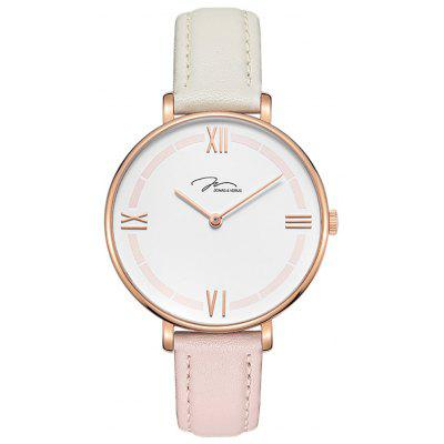 JONAS VERUS X01856-Q3.PPWDWR with Rose Gold Case and White and Pink Strap Watch