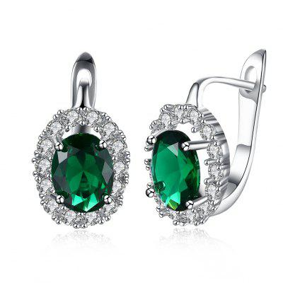 Zircon Earring Ring Green Diamond Romantic Wind Earring Clip
