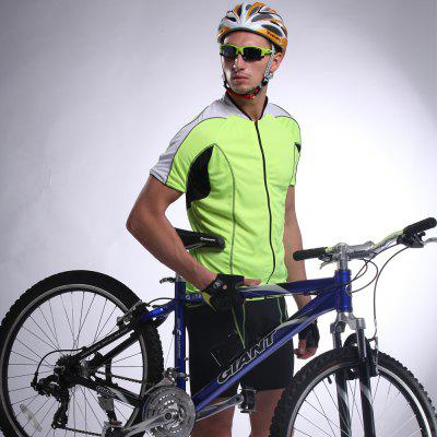 Male Summer Stretch Sweat Permeable Short Sleeve Cycling Suit