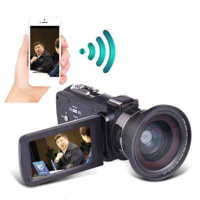 4K UHD Night Vision WiFi DV  Digital Camera with Microphone/Wide Angle Lens