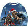 Men's  Autumn and Winter Round Neck Christmas Print Long-Sleeved Sweater - MULTI-A