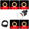 ZHISHUNJIA WY8526 USB Rechargeable High-light Taillight Creative Ring Taillight - BLACK