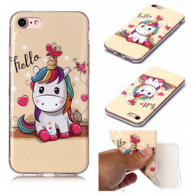 Ultra-Thin Painted TPU Phone Case for iPhone 8 / 7
