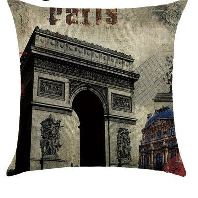 Lovely Comfortable Linen Pillowcase for Cushion  Bedroom Living Room Building