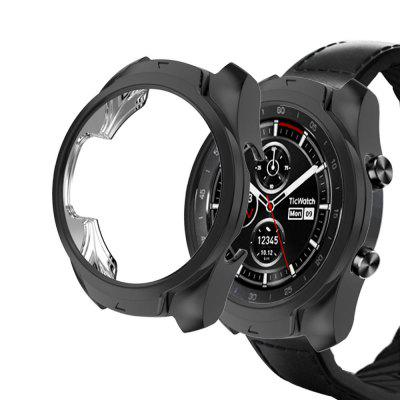 Ultra-Thin Soft Plating TPU Protection Silicone Case Cover For Ticwatch Pro