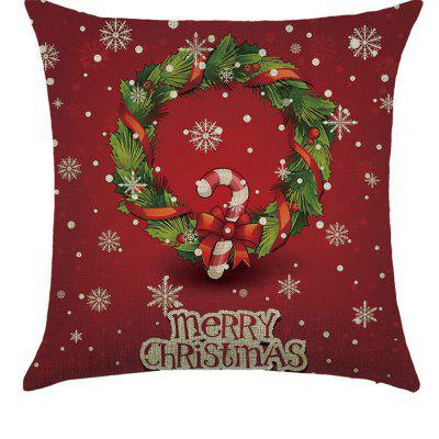 Lovely Linen Pillowcase Comfortable Multi-functional Car Sofa Bedroom Christmas