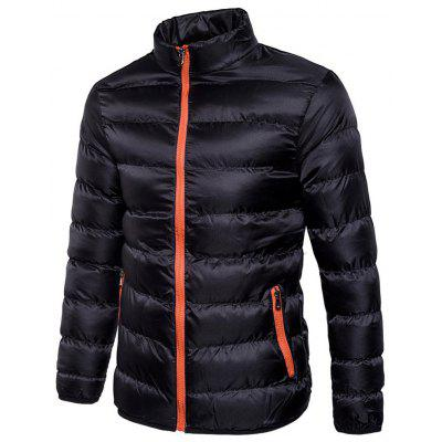 gearbest.com - Men's Autumn and Winter Stand Collar Fashion Slim Warm Cotton Jacket