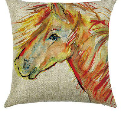 Animal Oil Paint Linen Pillowcase Comfortable Multi-functional Car Sofa Bedroom