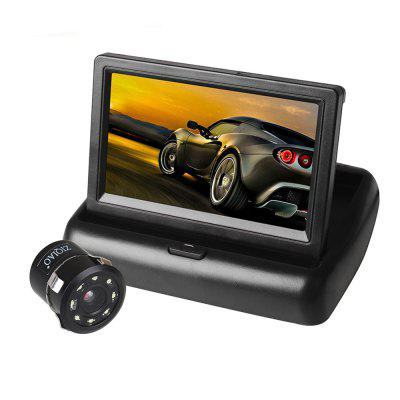 ZIQIAO 4.3 Inch TFT LCD Folding Monitor and Car Rear View Camera Kit