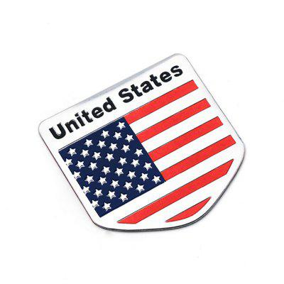 3D Aluminum USA Flag Badge Emblem Sticker Car Metal Sticker 1 PC