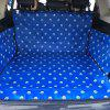 600D Oxford Cloth Printing Waterproof Pet Dog Cat Car Trunk Cover Pet Blanket - OCEAN BLUE