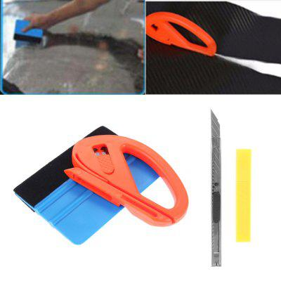 Car Window Tint Wrapping Vinyl Tools Squeegee Scraper Applicator Kits 4PCS