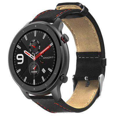 Leather Contrast Color Watch Band for Amazfit GTR 47MM