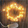 MAGOTAN  LED CR2032 Button Battery Power Supply 1M 10led LED String 6PCS - WARM WHITE