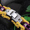 Trend Multicolor Mix and Match Bicycle Chain Titanium Steel Bracelet Jewelry - MUSTARD