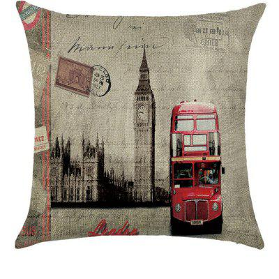 Street View of America Comfortable Linen Pillowcase for Cushion Sofa Bedroom