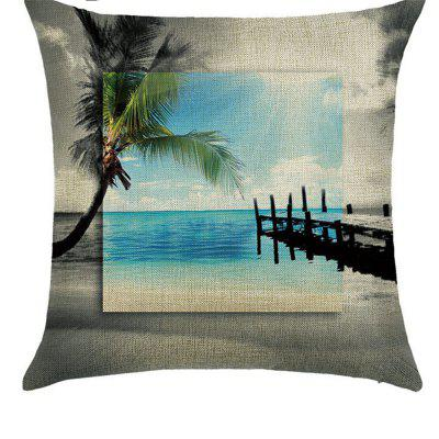 Sunset Street View Comfortable Linen Pillowcase for Cushion Sofa Bedroom
