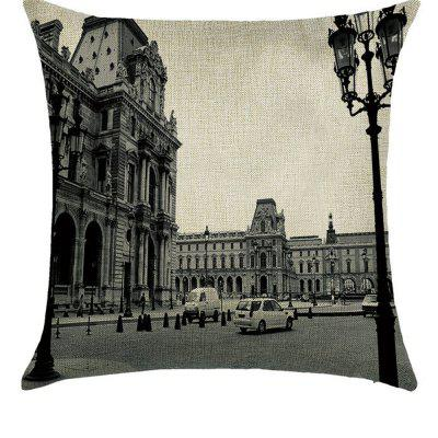 European Building Comfortable Linen Pillowcase for Cushion Bedroom Living Room