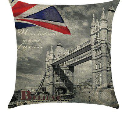 European Ink Painting Comfortable Linen Pillowcase for Cushion Sofa Bedroom