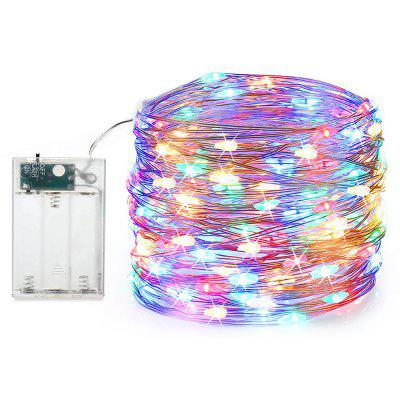 MAGOTAN String Fee Lichterkette Silberlinie 5M 50LEDs 3XAA Batterie