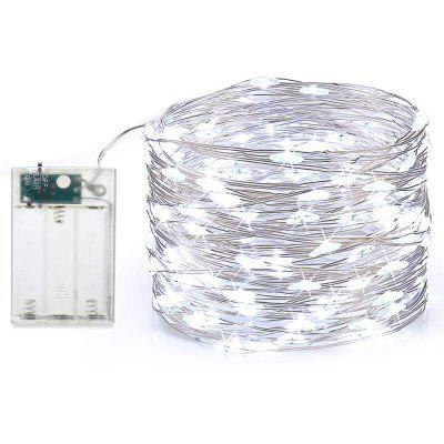 MAGOTAN String Fairy Light String Silver Line 5M 50LED Bateria 3XAA
