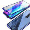 Double-sided Tempered Glass Metal Magnetic Phone Case For Xiaomi Mi 9T / 9T Pro - BLUE