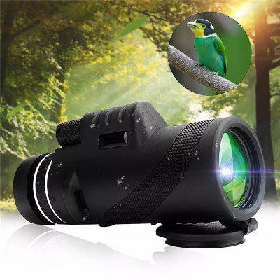 Outdoor Camping Hiking 40x60 Monocular HD Optic BAK4 Day Night Vision Telescope