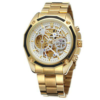 Forsining 1030 Men'S Automatic Steel Belt Hollow Mechanical Watch