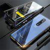 Double-sided Tempered Glass Metal Magnetic Phone Case For OnePlus 7 Pro - BLACK